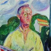 Edvard Munch, Self-Portrait with Palette, est. £4.5-6.5 million
