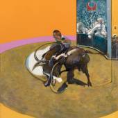 Francis Bacon, Study for Bullfight No. 1, 1969. Oil on canvas. 197.7 x 147.8 cm. Private collection © The Estate of Francis Bacon. All rights reserved, DACS/Artimage 2020. Photo: Prudence Cuming Associates Ltd.