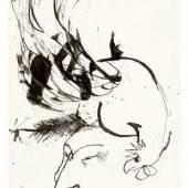 Albert Schindehütte, Dernier cri, 1959, Federzeichnung, Privatbesitz