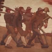 Albin Egger-Lienz  Der Totentanz von Anno Neun, 1908  Kasein auf Leinwand  225 x 251 cm  © Belvedere, Wien