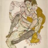 Egon Schiele, Sitzendes Paar, 1915