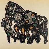 """Wassily Kandinsky, Franz Marc: Der Blaue Reiter  Piper Verlag, München 1912  (Illustration: """"Egyptische Schattenspielfigur"""")  Courtesy Sammlung Giovanni Aldobrandini  Foto: © Belvedere, Wien"""