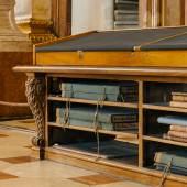 Ehemalige Verwahrung des Sub tabula Bestandes in den Tischkästen des Prunksaals. © Österreichische Nationalbibliothek