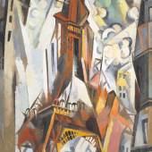 Robert Delaunay, La Tour Eiffel, 1910-1911, Öl auf Leinwand, 195.5 x 129 cm, Emanuel Hoffmann-Stiftung, Depositum in der Öffentlichen Kunstsammlung Basel, Foto: Martin P. Bühler, Öffentliche Kunstsammlung Basel