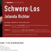 Einladung Kleine Galerie Einzelausstellung Jolanda Richter 24.1.2018