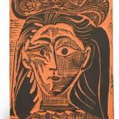 Pablo Picasso, Femme au chapeau fleuri (A. R. 521)…0,000-15,000)