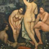 Émile Bernard (1868 - 1941) Die vier Badenden   Öl auf Leinwand   178 x 122,5 cm   WVZ-Nummer 749 Ergebnis: 49.020 Euro