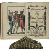 Wilhelm Tell – Miniaturbuch. Taschen-Kalender für das Jahr 1832 (EOS Buchantiquariat Benz 300 CHF)