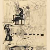 Erika Giovanna Klien Klessheimer Sendbote: Skandal-Nachrichten, Salzburg, 12. Februar 1927 Kohle, Bleistift auf Papier © Wien Museum