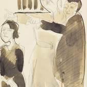 Ernst Ludwig Kirchner Straßenszene Tuschpinsel, laviert, um 1930 28,8 x 21,2 cm /11.3 x 8.3 inches Startpreis: € 5.150