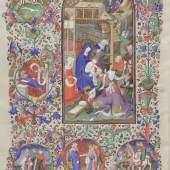 Erscheinung des Herrn; umgeben von Szenen mit den drei Königen und Herodes, Stundenbuch (lat., franz.), Paris (Meister des Herzogs von Bedford), um 1420/30 © Österreichische Nationalbibliothek