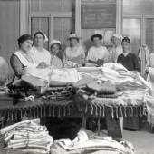 Textilmagazin, um 1915 Fotografie © Wien Museum
