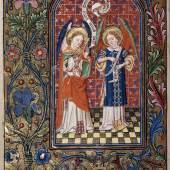 Erzengel Michael im  Kampf gegen den  Drachen Stundenbuch Schule von Rouen, 1503/12 (c) onb.ac.at