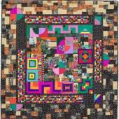 Linda Esbach: African Inspired Afrikanisch inspiriert, 2000  Textilien / Fabric 160 x 160 cm Sammlung Würth, Inv. 17065