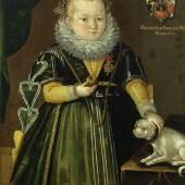 Eva Catharina Ferg von Sternhaim mit Hündchen, 1610, Alte Galerie, Schloss Eggenberg