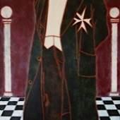 Eva Bur am Orde_Hiram, 2011, Öl auf Leinen, 210 x 110 x 6,5 cm