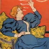 """Reklameplakat der Zigarettenfabrik """"Xanthi"""", Chromolithografie, um 1905, Entwurf: F. Walther Scholz (1861-1910), Druck: Chromolithografische Anstalt vorm. Bäcker & Co., Stadtmuseum Dresden, SMD_SP_1981_06073"""