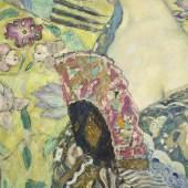 Gustav Klimt, Dame mit Fächer (Detail), 1917-18  Leihgabe aus Privatbesitz © Belvedere, Wien, Foto: Markus Guschelbauer