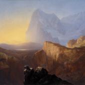 Alexandre Calame, Le Grand Eiger au soleil levant (Le Matin, vue du Grand Eiger), 1844 (Detail), Depositum der Schweizerischen Eidgenossenschaft, Bundesamt für Kultur, Gottfried Keller-Stiftung