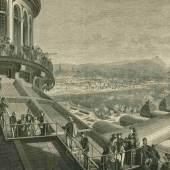 Auf dem Dach der Rotunde, 1873 Franz Kollarz Xylografie © Wien Museum
