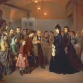 Besuch der Kaiserin Elisabeth in der Volksküche in der Schönlaterngasse, 1875 August Mansfeld Ölgemälde © Wien Museum