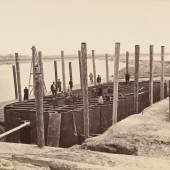 Bau der Reichsbrücke, 1873 Fotografie © Wien Museum