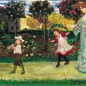 """Julius Extern, Gemälde """"Die Begrüßung"""""""