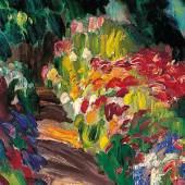 """Julius Extern, Gemälde """"Der Blumenweg"""""""