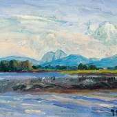 """Julius Extern, Gemälde """"Sonniger Morgen"""""""