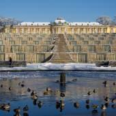 Schloss Sanssouci im Winterkleid