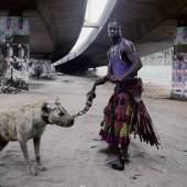 "Pieter Hugo, Abdullahi Mohammed with Mainsara, Lagos, Nigeria, from the series ""Gadawan Kura"" - The Hyena Men Series II, 2005-2007, 2007, c-print © Pieter Hugo, Priska Pasquer, Cologne."