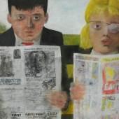 Peter Blake, CHILDREN READING COMICS, 1954, Öl auf Hartfaserplatte, 36,7 x 47,1 cm, Tullie House Museum and Art Gallery Trust, Carlisle,© VG Bild-Kunst, Bonn 2016.