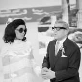 Karl Farkas und Elly Naschold parodieren Jackie Kennedy und Aristoteles Onassis Fotografie von Franz Wilhelm Scheidl 1968