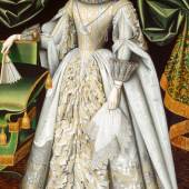 William Larkin, Portrait of Diana Cecil,  later Countess of Oxford, um 1614 −1618 Öl auf Leinwand, 120 x 206 cm Suffolk Collection, Kenwood House