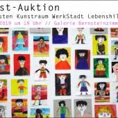 Plakat: Auktion zugunsten der Kunstraums der WerkStadt Lebenshilfe
