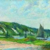 Paul Gauguin (1848 – 1903) Les falaises de la Bouille | 1884Öl auf Leinwand | 38,3 x 56,2cm Ergebnis: 803.500 Euro