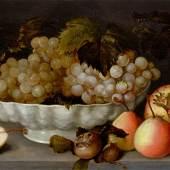FEDE GALIZIA Fruchtstillleben. Öl auf Holz. 28 x 38,3 cm. Schätzung: CHF 150 000/200 000 Ergebnis: CHF 450 000
