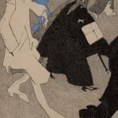 Feininger, Hästende Leute (Hurried People) estimate $ 100/150