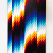 Felipe Pantone, Chromadynamica #76,  66 x 100cm., spray paint on aluminium panel