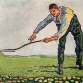 Ferdinand Hodler (1853–1918) Der Mäher um 1910 Öl auf Leinwand 83,5 x 106 cm Schätzpreis:1.000.000 - 1.200.000 CHF