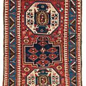 "Lori Pambak Kazak 215 x 146 cm (7' 1"" x 4' 9"") Caucasus, ca. 1880"