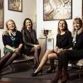 Fiona Freifrau von Loeffelholz von Colberg, Prinzessin Hermine zu Salm-Salm,  Monika Freifrau von Pölnitz von und zu Egloffstein, Cornelia Edle von Schaabner (von links)  Foto: Devi Seeliger / MPE-Art-Cirlcle