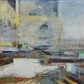 Oil ,metallic pigment and shellac on canvas 100 x 140 cm