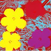 "Andy Warhol ""Flowers, 1970""/ © The Andy Warhol Foundation for the Visual Arts. Inc. /  VBK, Wien 2012"
