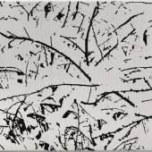 Farhad Moshiri First Snow 011B, 2017 Handembroidered beads on canvas on board 99 x 122 cm (38,98 x 48,03 in) (FMO 2041)