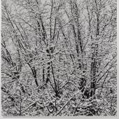 Farhad Moshiri First Snow 011C, 2017 Handembroidered beads on canvas on board 155 x 152 cm (61,02 x 59,84 in) (FMO 2042)