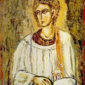 Hl. Stephanus Öl auf Papier 118 x 82 cm © Nikos Kypraios
