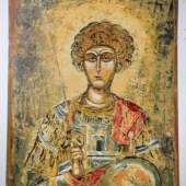 Hl. Georg Öl auf Papier 118 x 82 cm © Nikos Kypraios