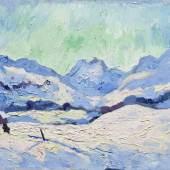 Winterlandschaft von Giovanni Giacometti (Schätzpreis 400 0000 bis 600 000 Franken) für rund eine Million Franken