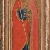 Fra Angelico, Hl. Nikolaus von Bari, 1424-1425, Tempera auf Holz, © Remagen, Arp Museum Bahnhof Rolandseck, Sammlung Rau für UNICEF. Foto Horst Bernhard